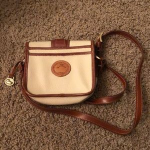 Vintage Dooney & Bourke cream duck crossbody purse